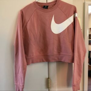 Nike cropped sweater pullover
